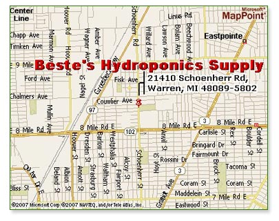 hydropnics michigan location map